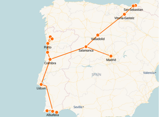 Portugal Rail Map